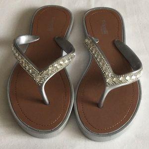 Capellini New York jeweled flip flops/sandals